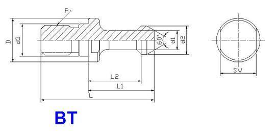 bt40-45 u2218 pull stud