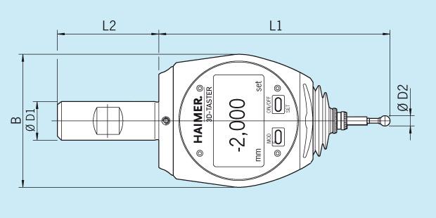 数显 3D 寻边器测量仪器的技术图纸